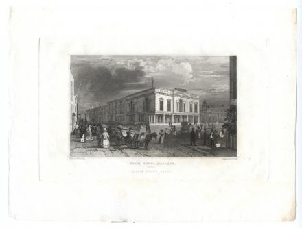1835 MARGATE The Royal Hotel PRINT FROM ENGRAVING Cecil Square